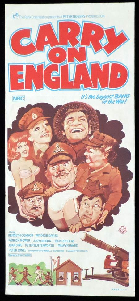 CARRY ON ENGLAND Original Daybill Movie Poster Kenneth Connor Windsor Davies Patrick Mower