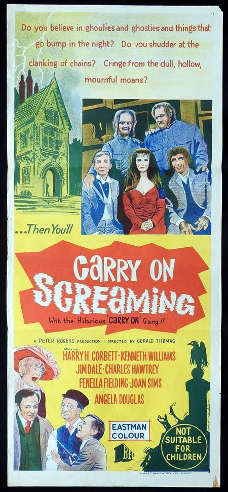 CARRY ON SCREAMING Original Daybill Movie Poster Harry H. Corbett Kenneth Williams