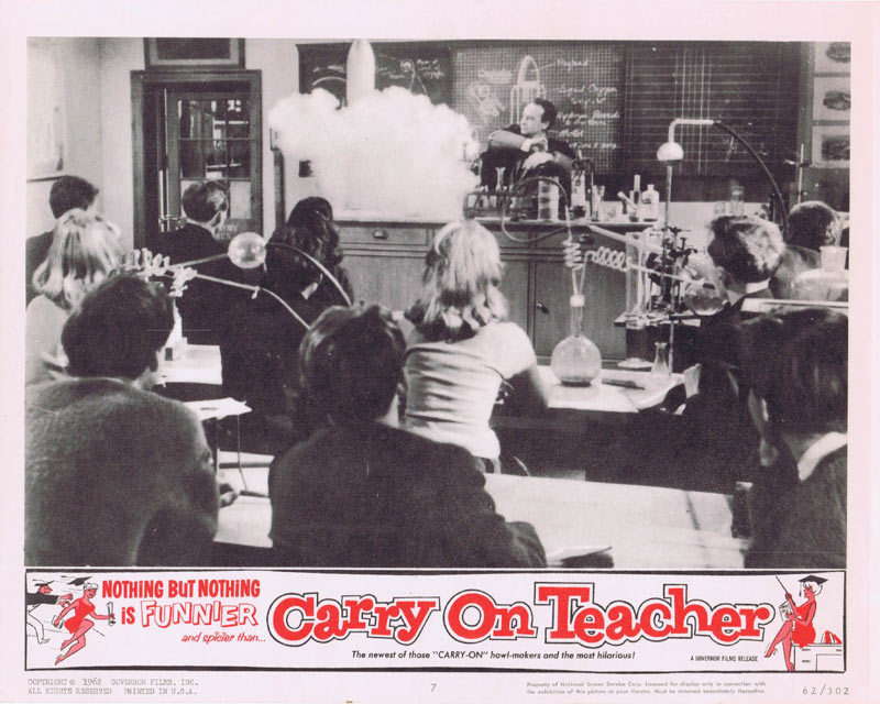 CARRY ON TEACHER Lobby Card 7 Kenneth Connor