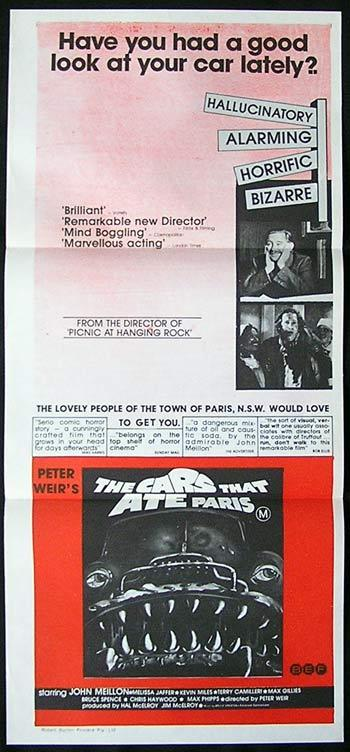 THE CARS THAT ATE PARIS Daybill Movie poster Peter Weir
