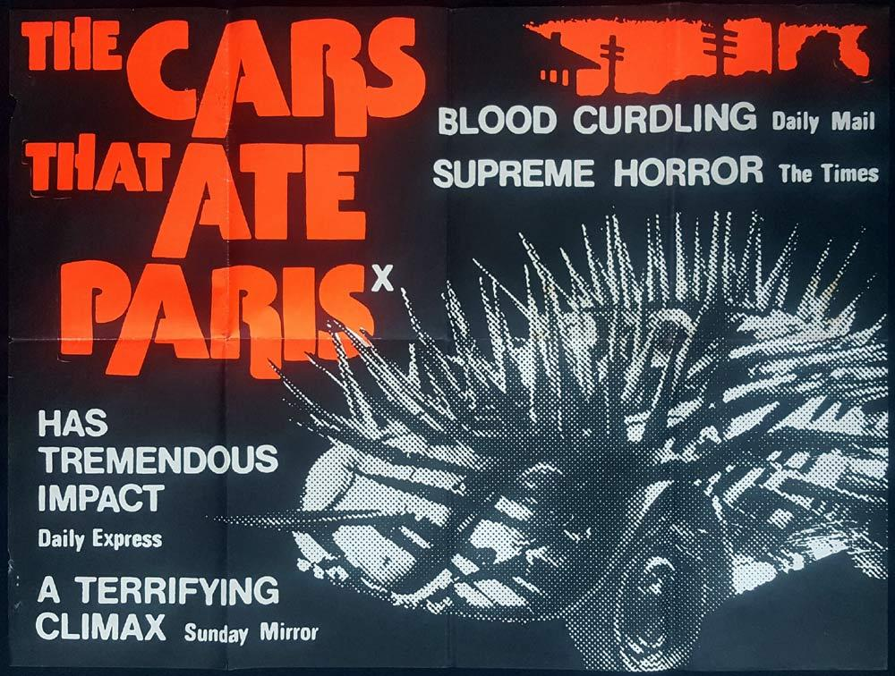 THE CARS THAT ATE PARIS British Quad Movie poster Peter Weir