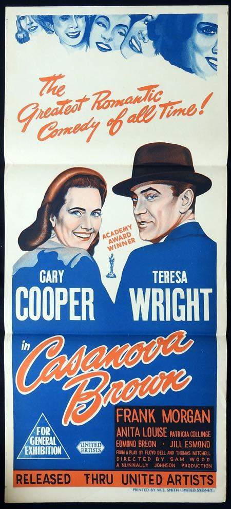 CASANOVA BROWN Original Daybill Movie Poster 1956r Gary Cooper Teresa Wright