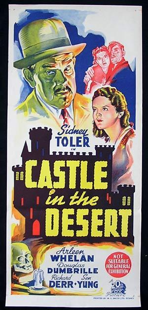 CASTLE IN THE DESERT Movie Poster 1942 Sidney Toler as Charlie Chan RARE poster