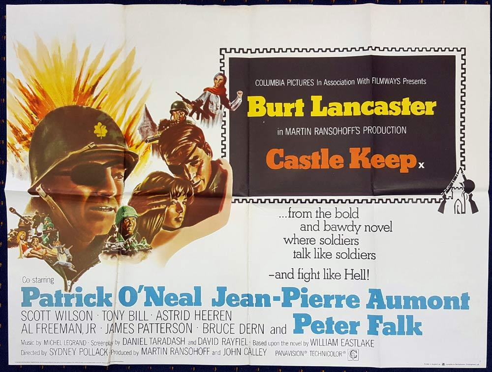 CASTLE KEEP Original British Quad Movie poster Burt Lancaster Battle of the Bulge