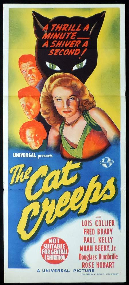 THE CAT CREEPS Original Daybill Movie Poster UNIVERSAL HORROR Lois Collier