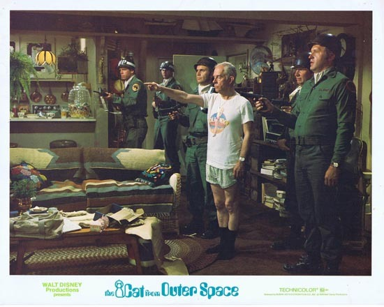 CAT FROM OUTER SPACE 1978 Disney Sci Fi Lobby Card 9