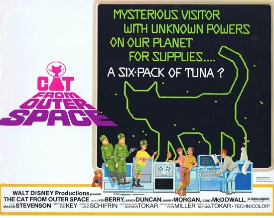 CAT FROM OUTER SPACE 1978 Disney Sci Fi Title Lobby Card