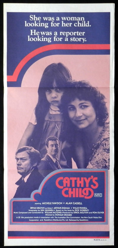 CATHY'S CHILD Movie Poster 1979 Australian Film Daybill