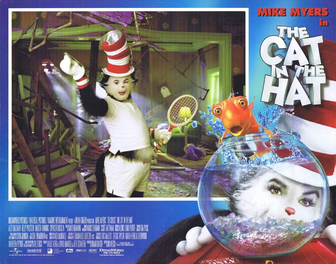 THE CAT IN THE HAT Original Lobby Card Mike Myers Dr Seuss