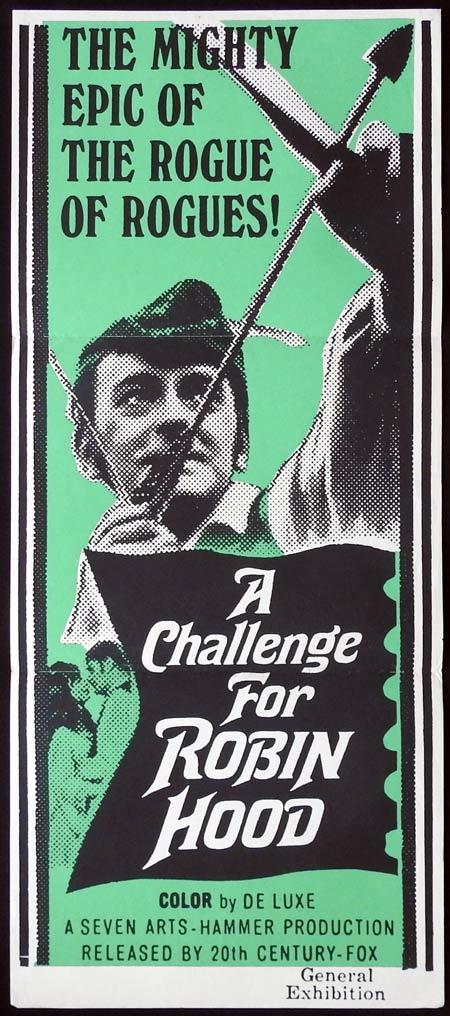 A CHALLENGE FOR ROBIN HOOD Original Daybill Movie Poster Hammer