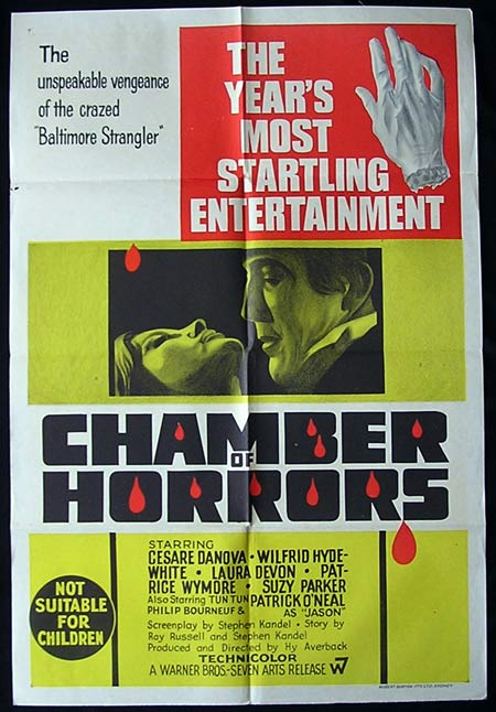 CHAMBER OF HORRORS One sheet Movie poster Cesare Danova Horror