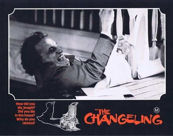 THE CHANGELING 1980 George C.Scott HORROR Lobby Card 6