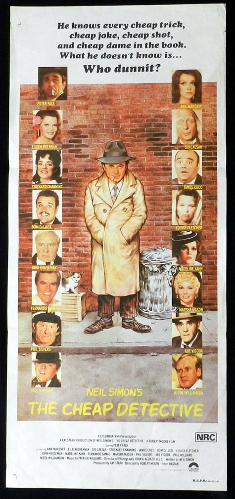 Neil simons the cheap detective peter falk vintage daybill for Cheap prints and posters