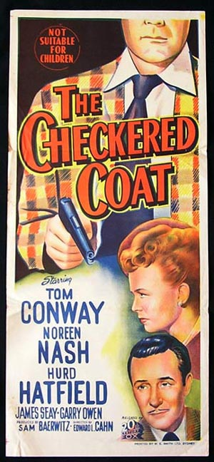 CHECKERED COAT Movie Poster 1948 Tom Conway RARE daybill