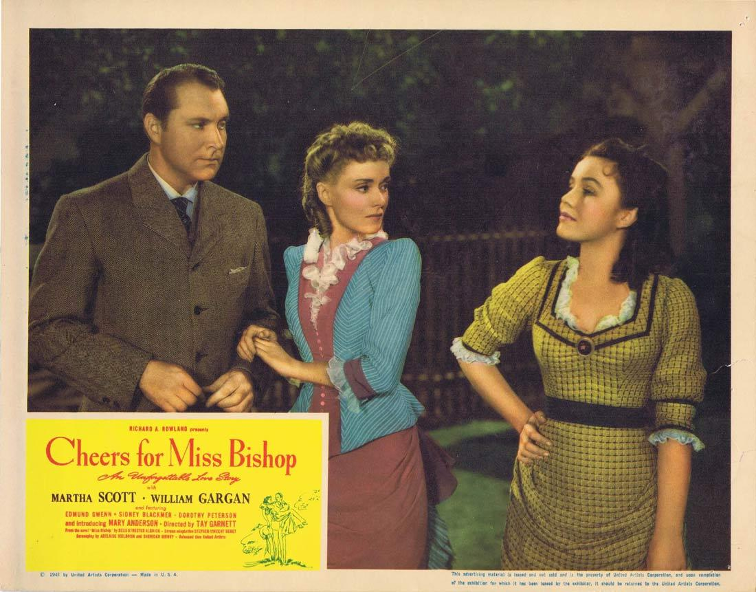 CHEERS FOR MISS BISHOP Lobby Card 5 Martha Scott William Gargan Edmund Gwenn