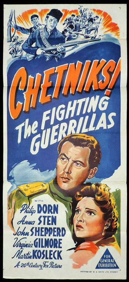 CHETNIKS THE FIGHTING GUERILLAS Original Daybill Movie Poster Phillip Dorn Anna Sten