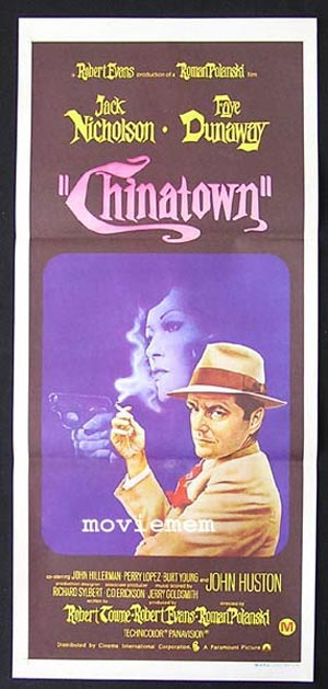 CHINATOWN 1974 Jack Nicholson ORIGINAL Movie poster