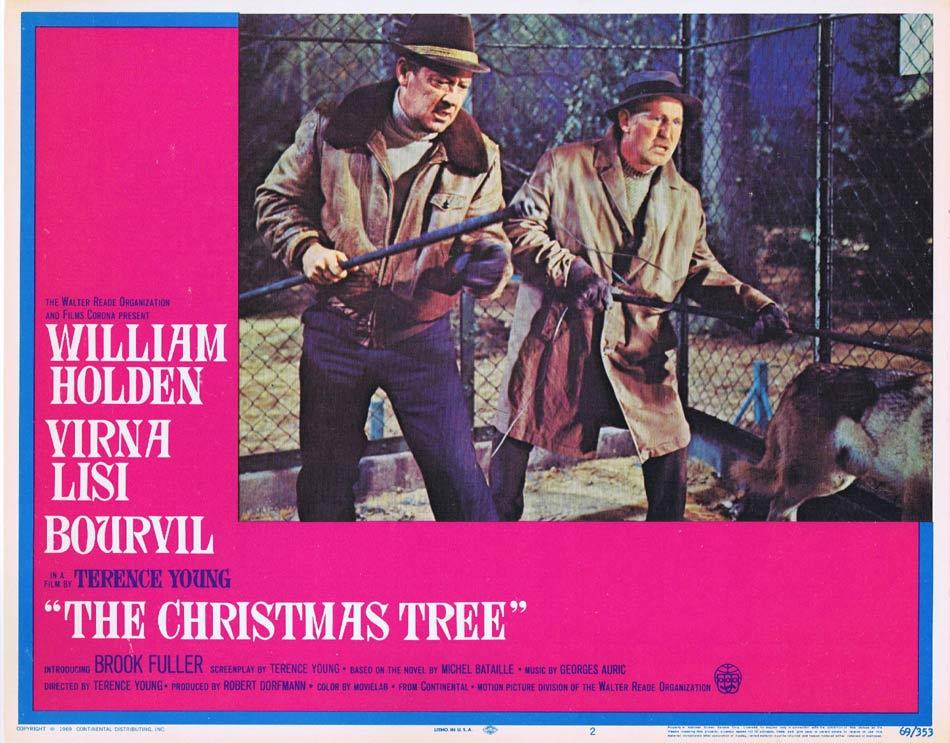 THE CHRISTMAS TREE Lobby Card 2 William Holden Virna Lisi Terence Young