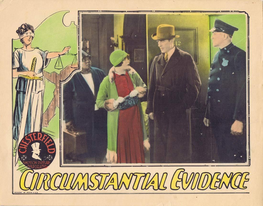 CIRCUMSTANTIAL EVIDENCE Lobby Card Cornelius Keefe Helen foster Alice Lake 1929
