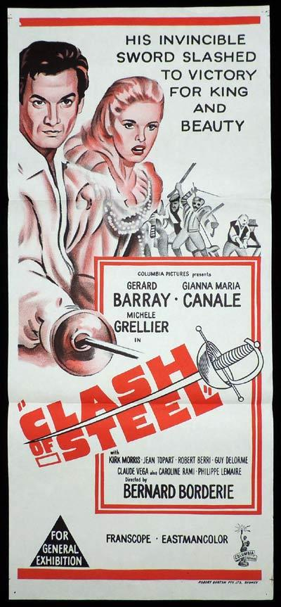 CLASH OF STEEL, Daybill, Movie poster, Gerard Barray