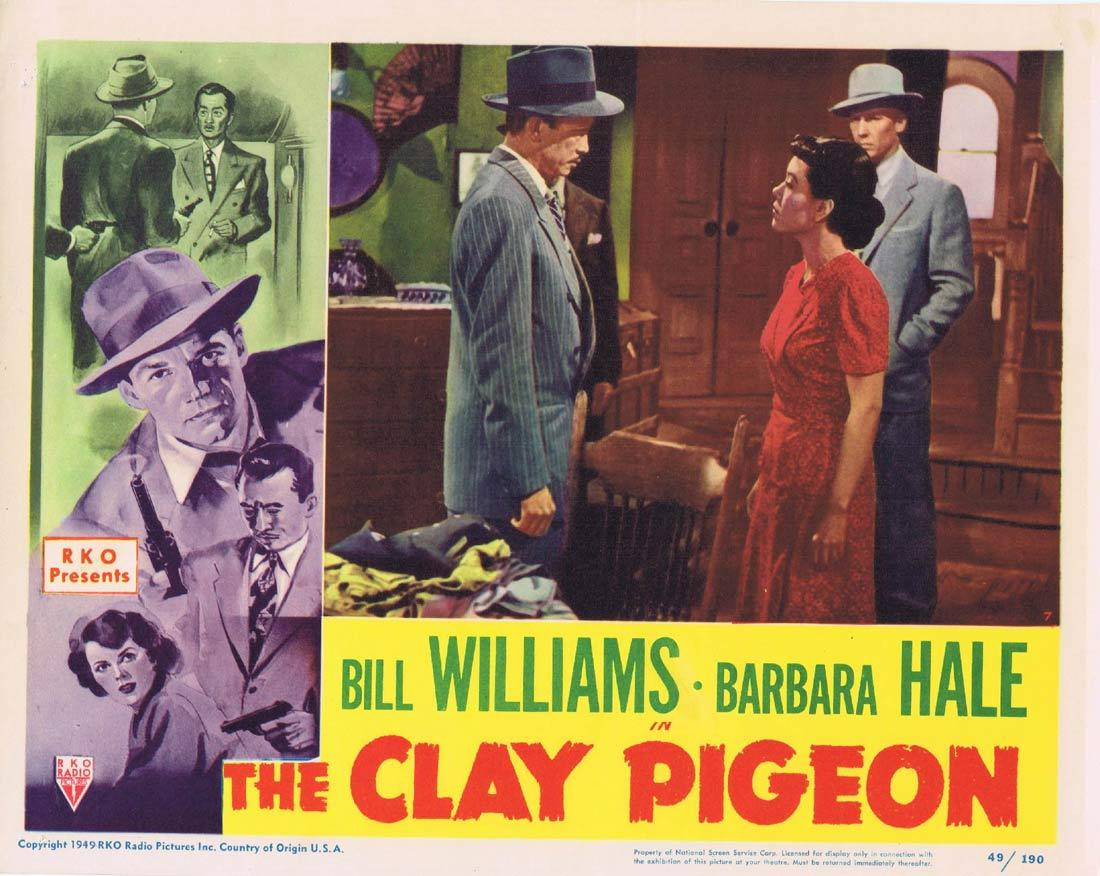 THE CLAY PIGEON Lobby Card 7 Bill Williams Barbara Hale Richard Quine