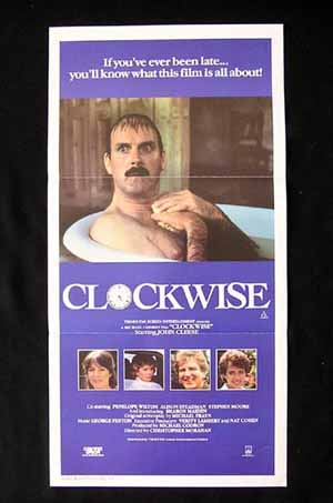 CLOCKWISE Daybill Movie Poster 1986 John Cleese