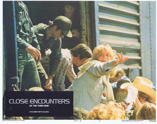 CLOSE ENCOUNTERS OF THE THIRD KIND 1977 Lobby Card 3 UFO ALIEN Stephen Speilberg