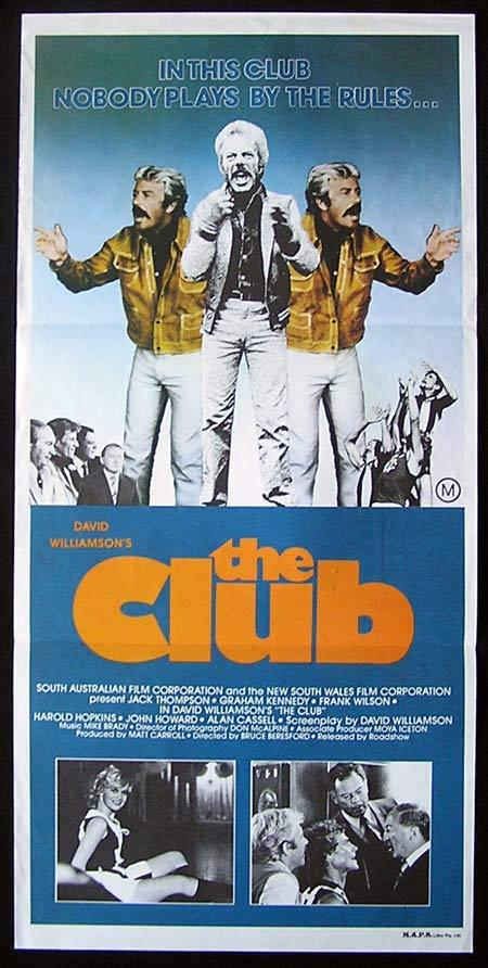 THE CLUB Daybill Movie Poster Collingwood Football team Graham Kennedy