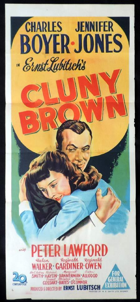 CLUNY BROWN Original Daybill Movie Poster Loretta Young Charles Boyer Jennifer Jones
