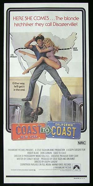 COAST TO COAST Daybill Movie Poster Dyan Cannon