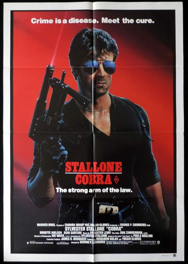 COBRA One Sheet Movie Poster Brigitte Nielsen Sylvester Stallone