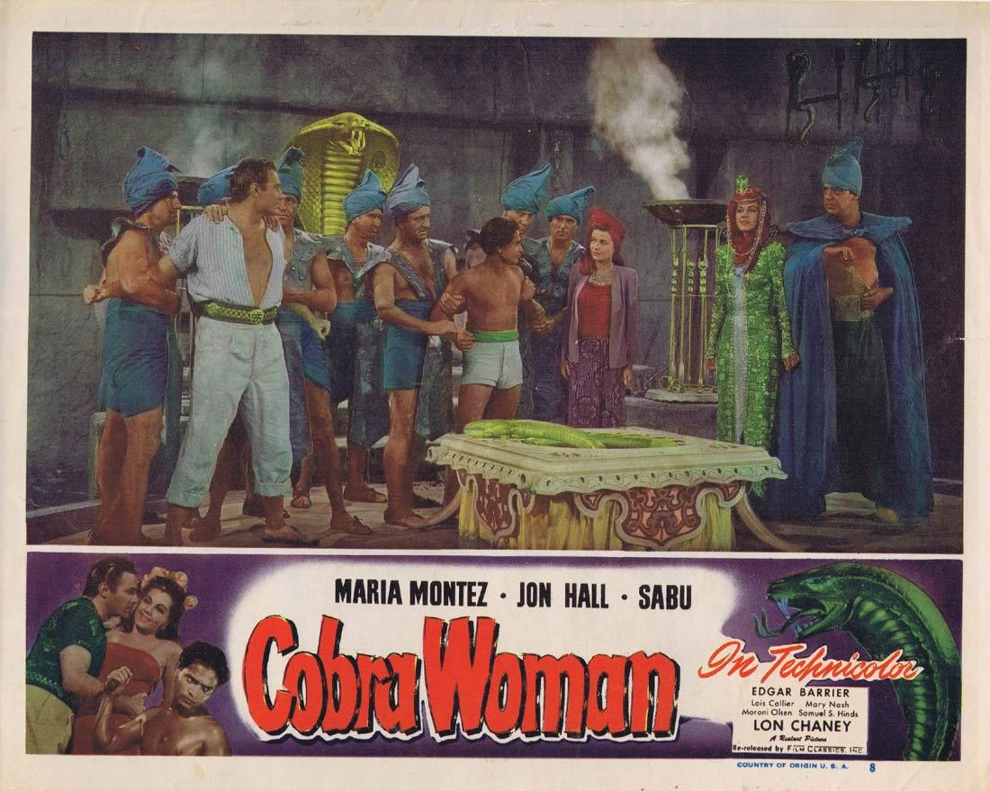 Cobra Woman, Maria Montez, Jon Hall, Sabu