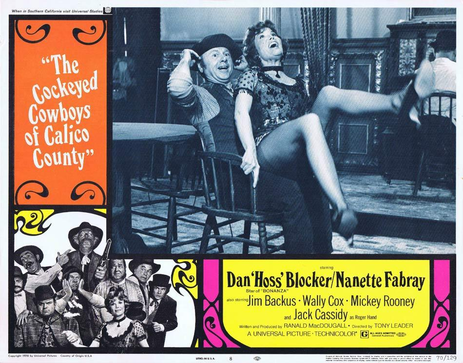 THE COCKEYED COWBOYS OF CALICO COUNTY Lobby Card 8 Dan Blocker Nanette Fabray Mickey Rooney