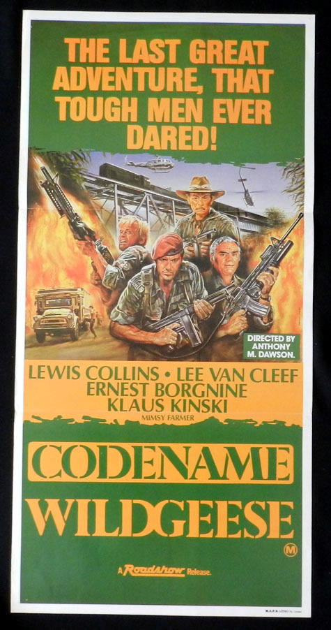 CODENAME WILD GEESE Lewis Collins Lee Van Cleef VINTAGE Daybill Movie poster