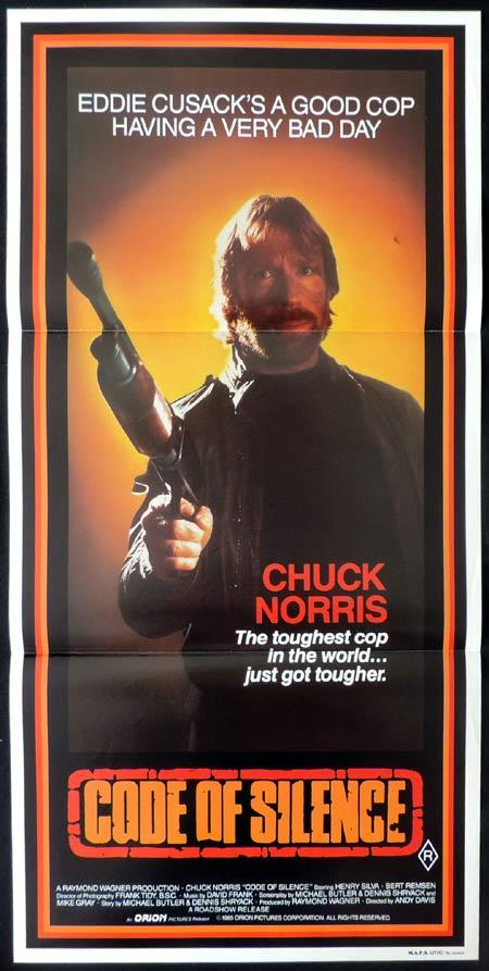 CODE OF SILENCE Original Daybill Movie Poster Chuck Norris
