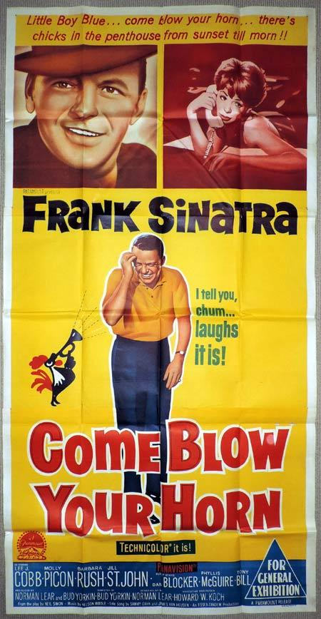 COME BLOW YOUR HORN Original 3 Sheet Movie Poster Frank Sinatra