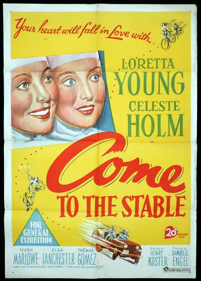 COME TO THE STABLES One Sheet Movie Poster Loretta Young