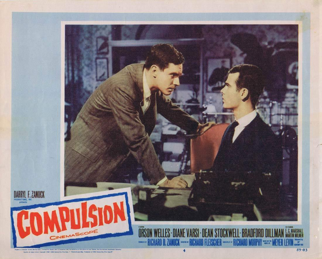 COMPULSION Lobby Card 4 Orson Welles Diane Varsi Dean Stockwell