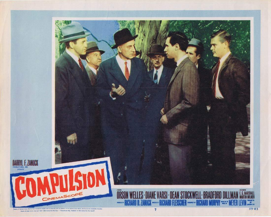 COMPULSION Lobby Card 7 Orson Welles Diane Varsi Dean Stockwell