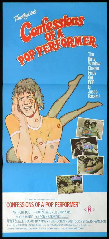 CONFESSIONS OF A POP PERFORMER Original Daybill Movie Poster Robin Askwith