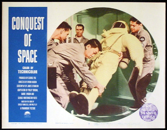CONQUEST OF SPACE George Pal Sci Fi Lobby card 8