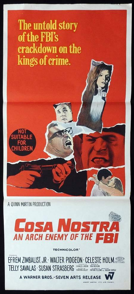 COSA NOSTRA ARCH ENEMY OF THE FBI Original daybill Movie Poster