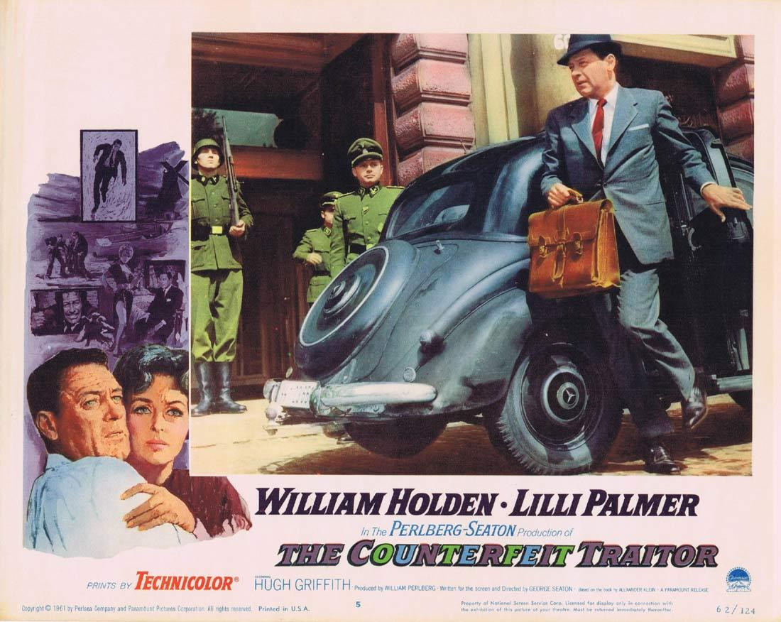 THE COUNTERFEIT TRAITOR Lobby Card 5 William Holden Lilli Palmer Hugh Griffith