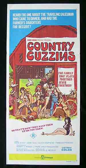 COUNTRY CUZZINS '70-Harry Novak-SEXPLOITATION daybill
