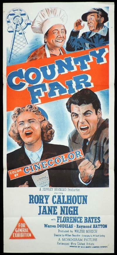 COUNTY FAIR Daybill Movie poster Gerard Barray