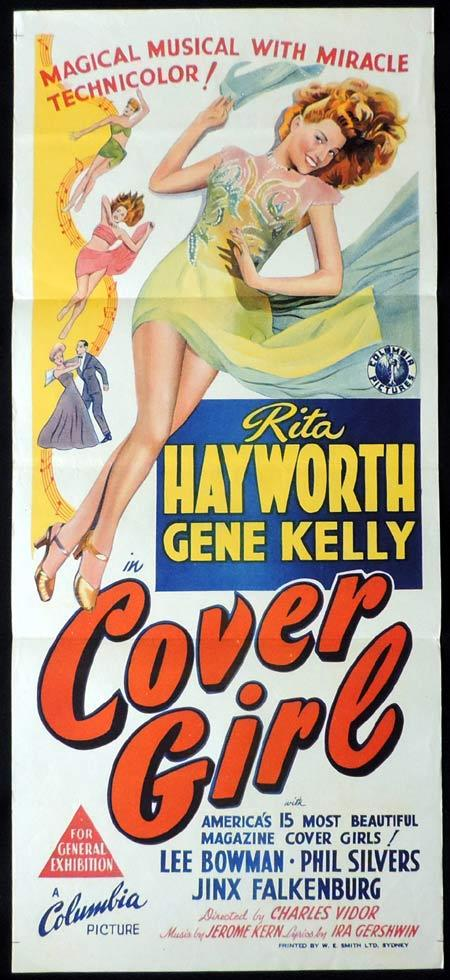 COVER GIRL Original Daybill Movie Poster Rita Hayworth Gene Kelly