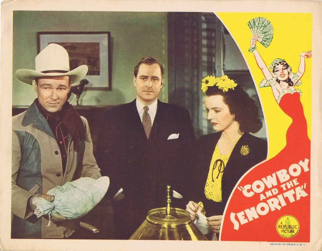 COWBOY AND THE SENORITA Vintage Lobby Card 8 Roy Rogers Dale Evans