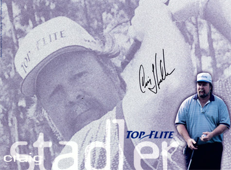 CRAIG STADLER Autograph 8 x 10 Photo Golf