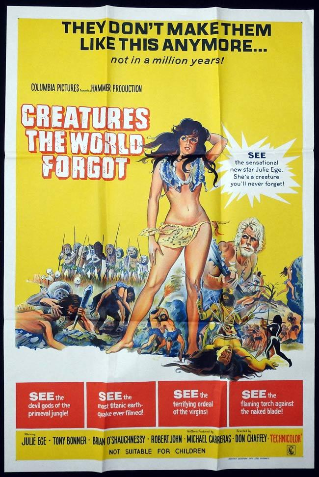 CREATURES THE WORLD FORGOT Original One sheet Movie Poster Julie Ege Brian O'Shaughnessy Hammer