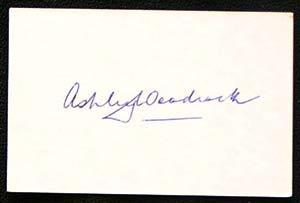 ASHLEY WOODCOCK-Cricket Autographed Index Card